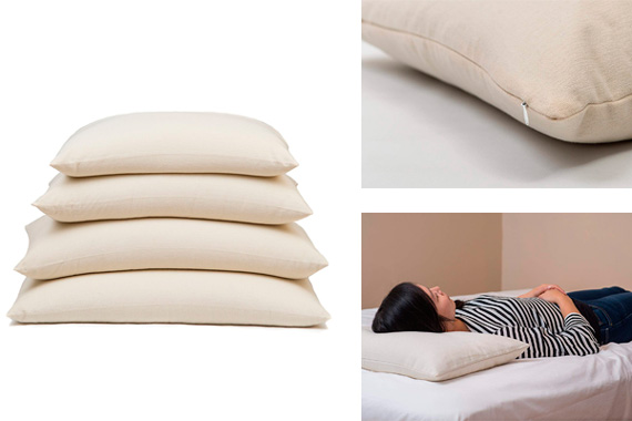 ComfyComfy Rectangular Buckwheat Hull Pillow: photo