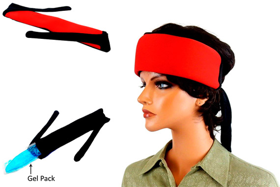 Cooling Head/Neck Wrap With Inserts: photo