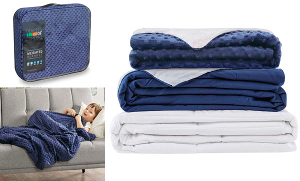Weighted Blanket with CoolMax Cooling & Fleece Covers: photo