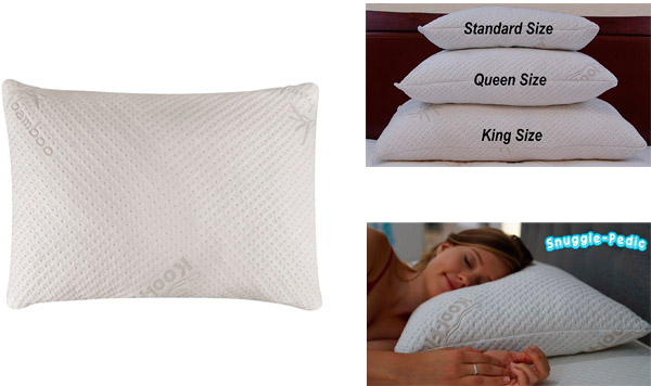 Snuggle-Pedic Ultra-Luxury Bamboo Pillow: photo
