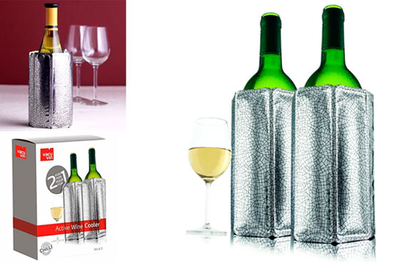 Vacu Vin Active Wine Cooler Silver: photo