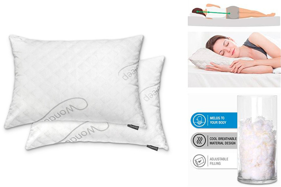 WonderSleep Premium Adjustable Loft Pillow: photo