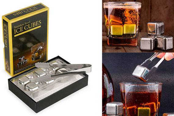 Whiskey Stainless Steel Bullet Chillers: photo