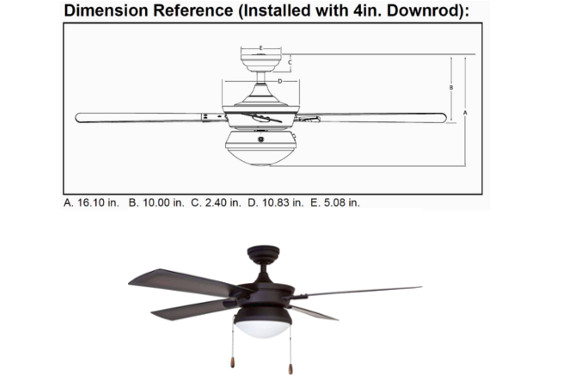 Prominence Home Auletta Outdoor Ceiling Fan: photo